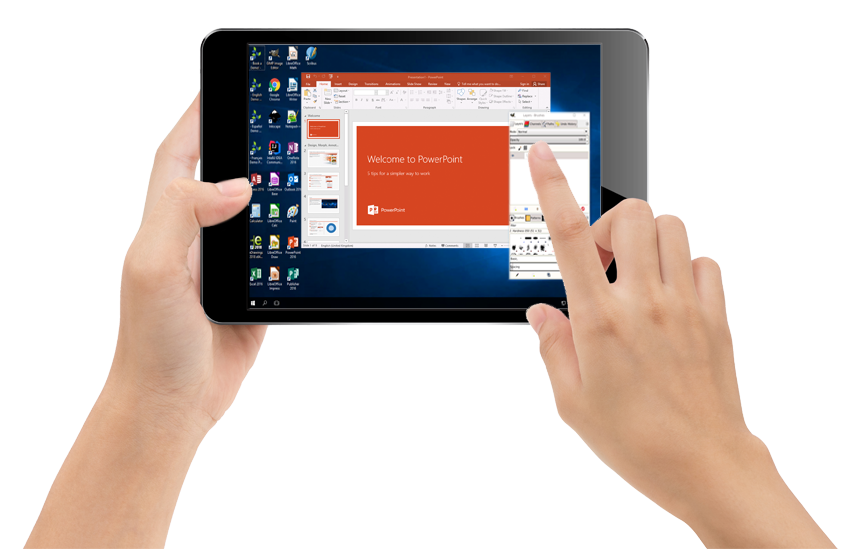 Application virtualization on a tablet