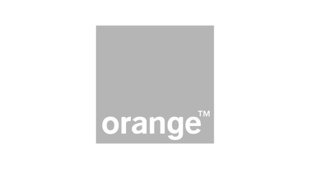 Orange logo grey